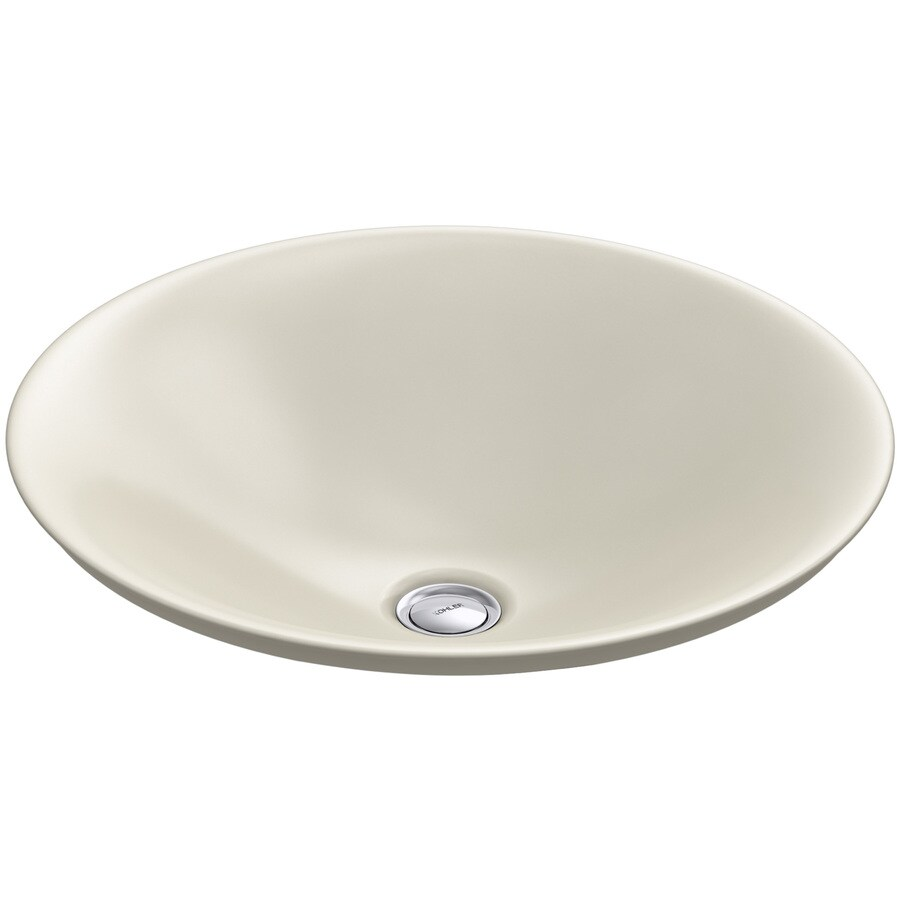 shop kohler carillon almond vessel rectangular bathroom 19026