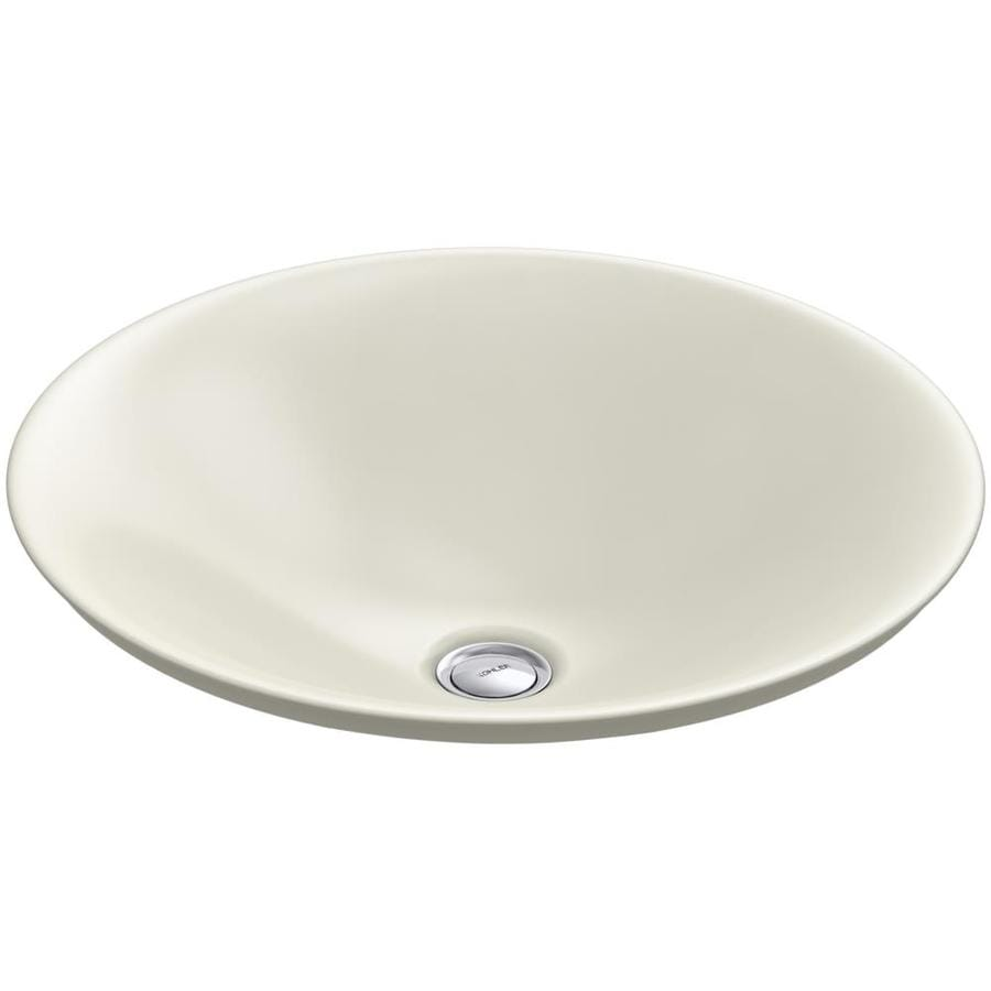 ... KOHLER Carillon Ice Grey Vessel Rectangular Bathroom Sink at Lowes.com