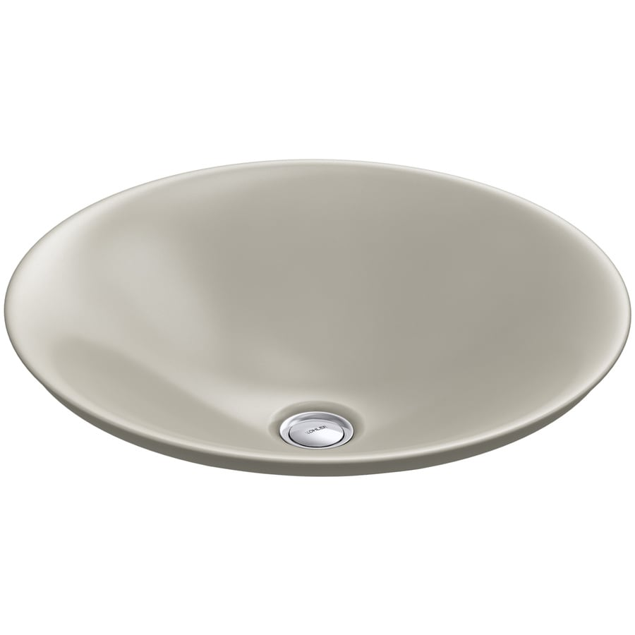 kohler bathroom sinks shop kohler carillon sandbar vessel rectangular bathroom 13384