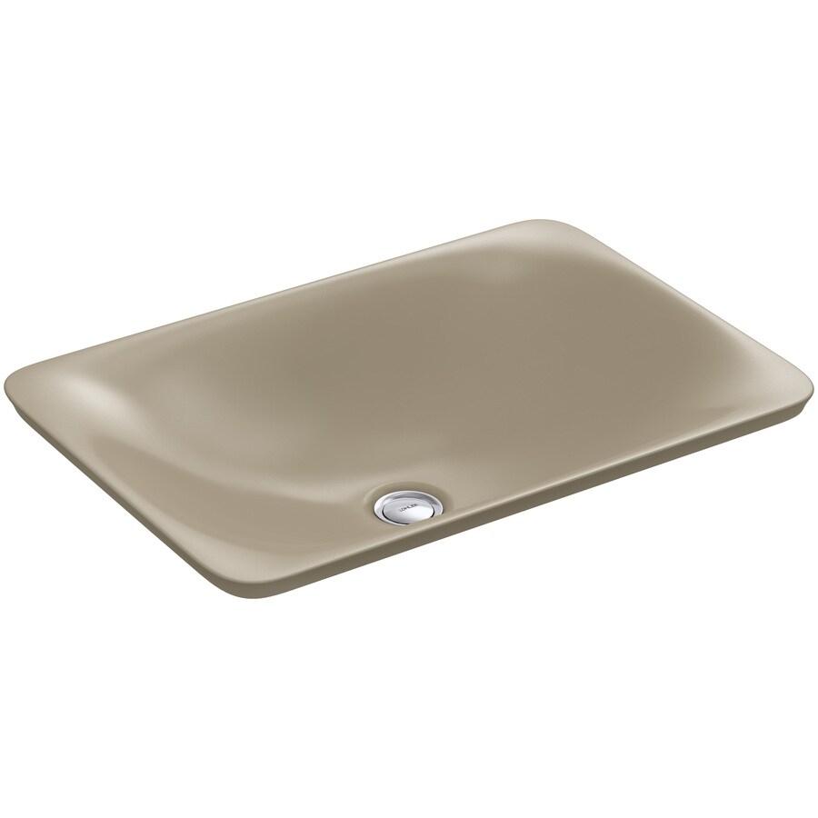 KOHLER Carillon Mexican Sand Vessel Rectangular Bathroom Sink