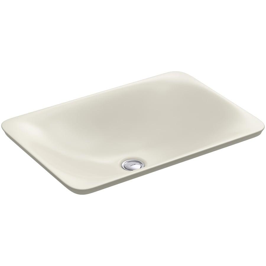 Kohler carillon biscuit vessel rectangular bathroom sink - Rectangular vessel bathroom sinks ...
