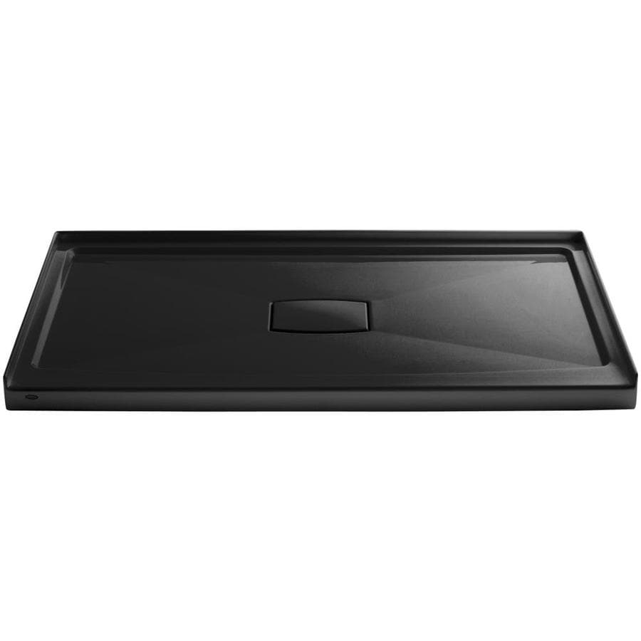 KOHLER Archer Black Acrylic Shower Base (Common: 36-in W x 60-in L; Actual: 36-in W x 60-in L)