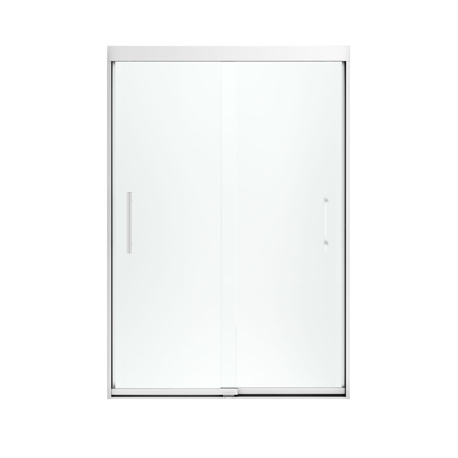 Sterling Finesse 44.625-in to 47.625-in Frameless Silver Sliding Shower Door