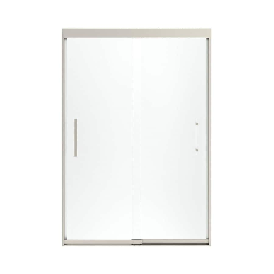 Sterling Finesse 44.625-in to 47.625-in W x 70.0625-in H Brushed Nickel Sliding Shower Door
