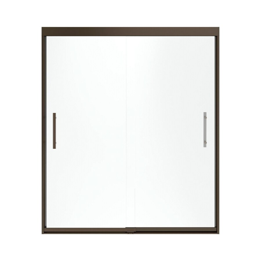 Sterling Finesse 44.625-in to 47.625-in Frameless Deep bronze Sliding Shower Door