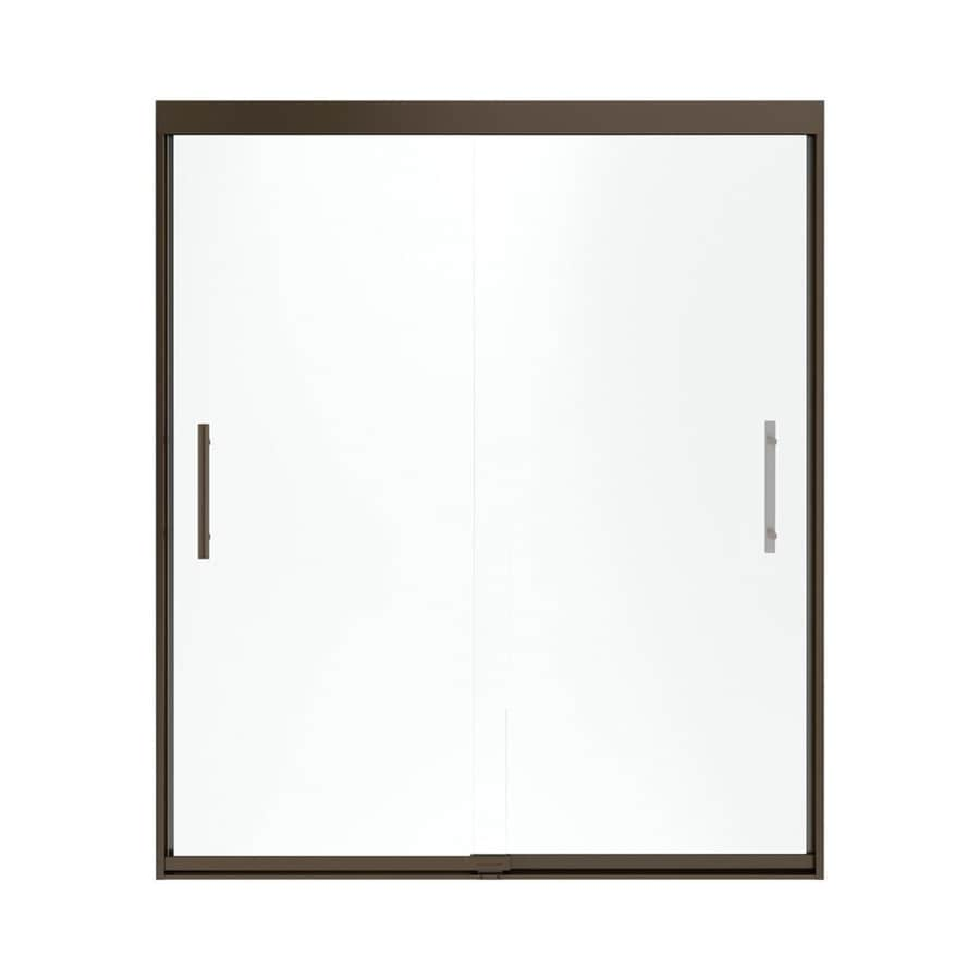 Sterling Finesse 56.625-in to 59.625-in W x 70.0625-in H Deep Bronze Sliding Shower Door