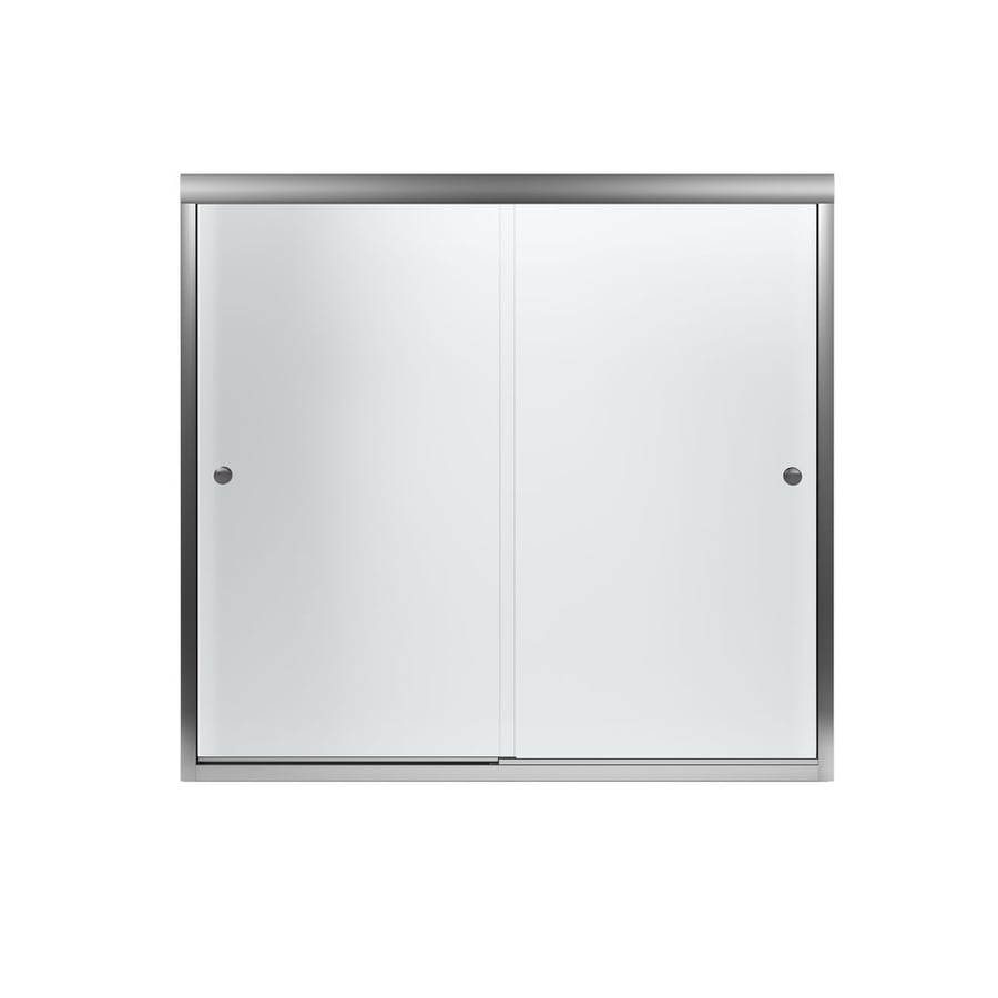 Shop Sterling Finesse 59.625-in W x 55.5-in H Frameless Bathtub Door ...