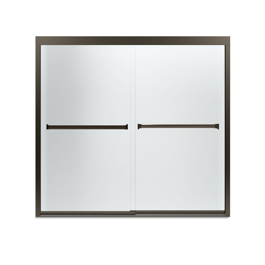 Sterling Meritor 59.375-in W x 55.125-in H Frameless Bathtub Door