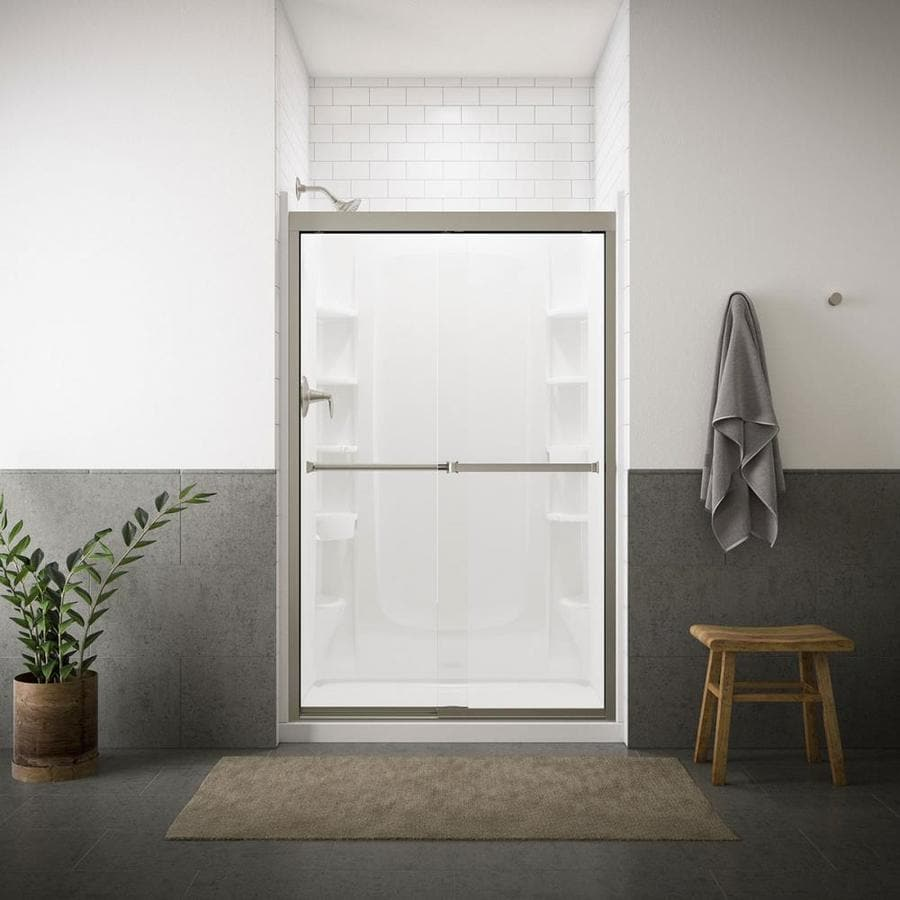 Sterling Meritor 42.625-in to 47.625-in Frameless Sliding Shower Door