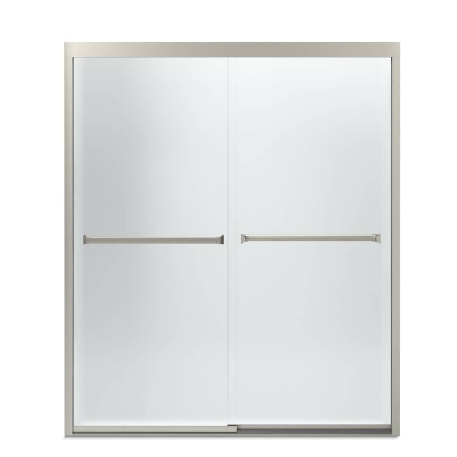 Sterling Meritor 54.375-in to 59.375-in W Frameless Brushed Nickel Sliding Shower Door  sc 1 st  Loweu0027s & Shop Sterling Meritor 54.375-in to 59.375-in W Frameless Brushed ...