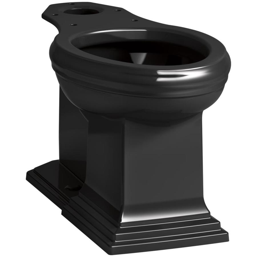 KOHLER Memoris Standard Height Black Black 12 Rough-In Elongated Toilet Bowl