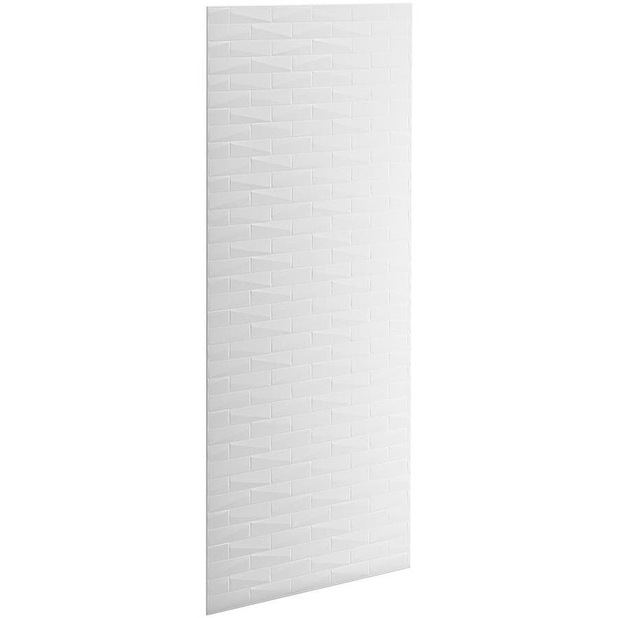 KOHLER Choreograph White Shower Wall Surround Side and Back Panels (Common: 36-in x .1875-in; Actual: 96.0000-in x 36.0000-in x 0.1875-in)