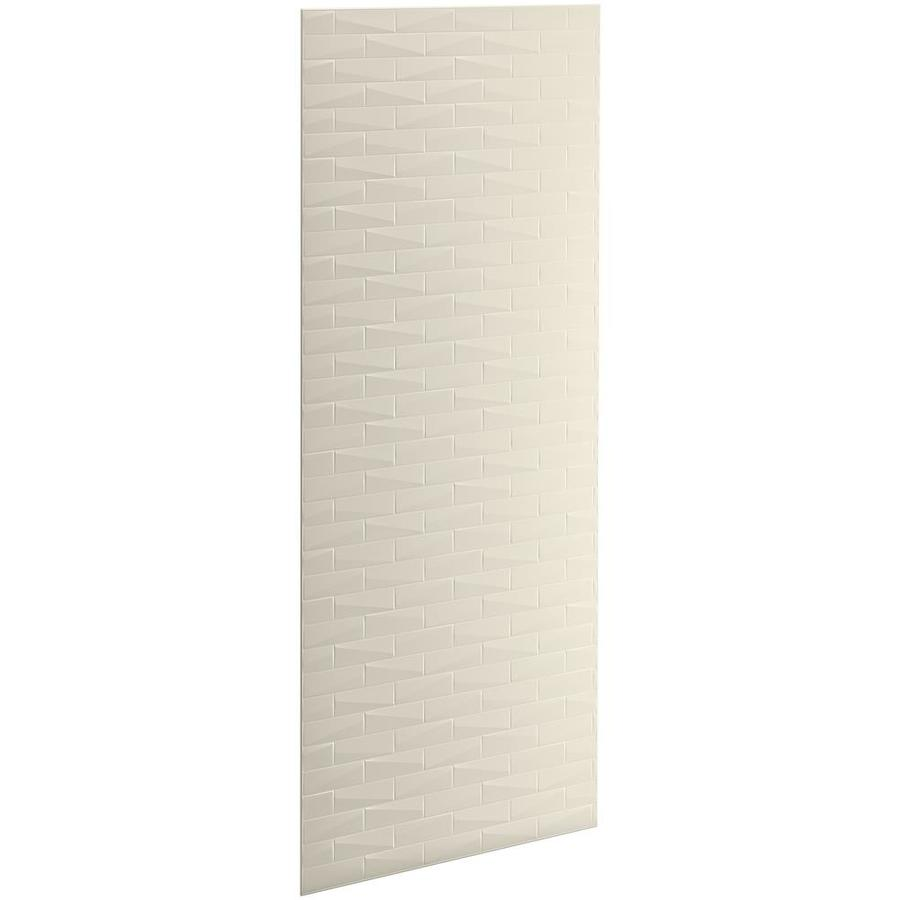 KOHLER Choreograph Almond Shower Wall Surround Side and Back Panels (Common: 36-in x .1875-in; Actual: 96-in x 36-in x 0.1875-in)