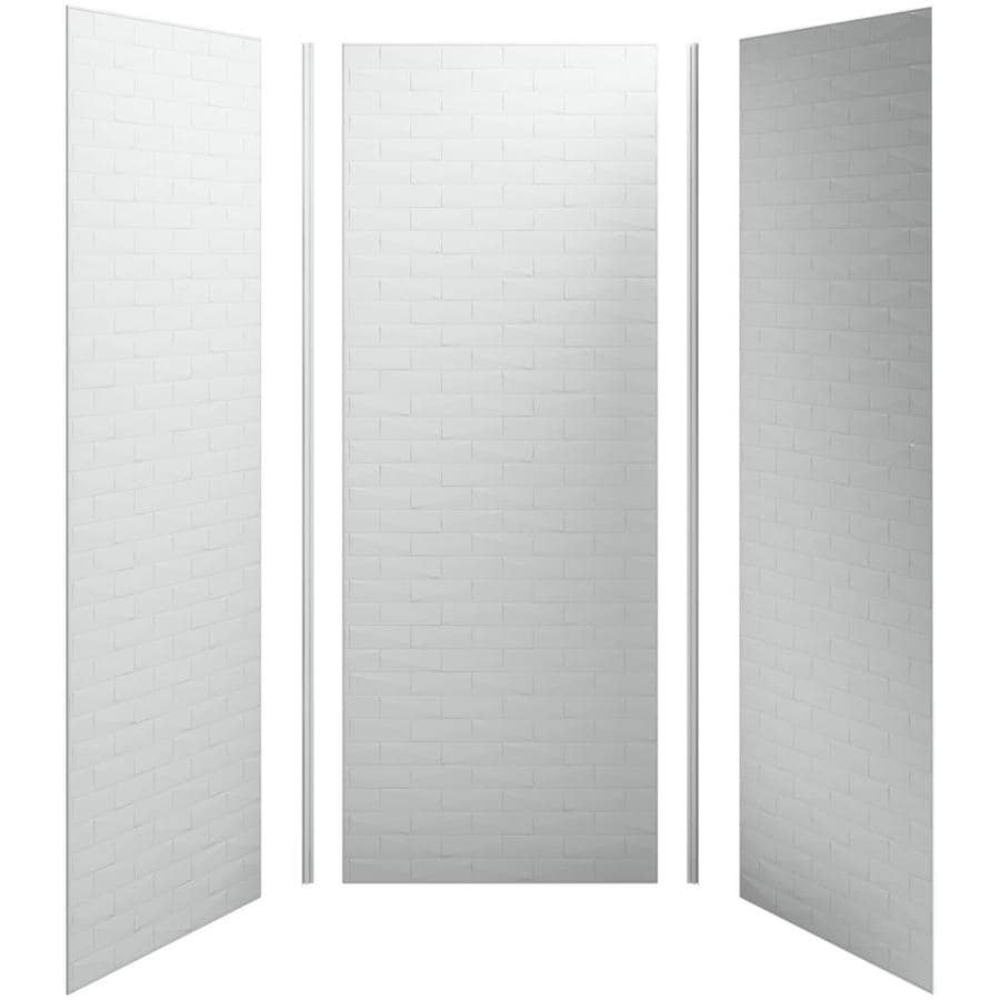 KOHLER Choreograph Ice Grey Shower Wall Surround Side and Back Panels (Common: 36-in x 36-in; Actual: 96-in x 36-in x 36-in)