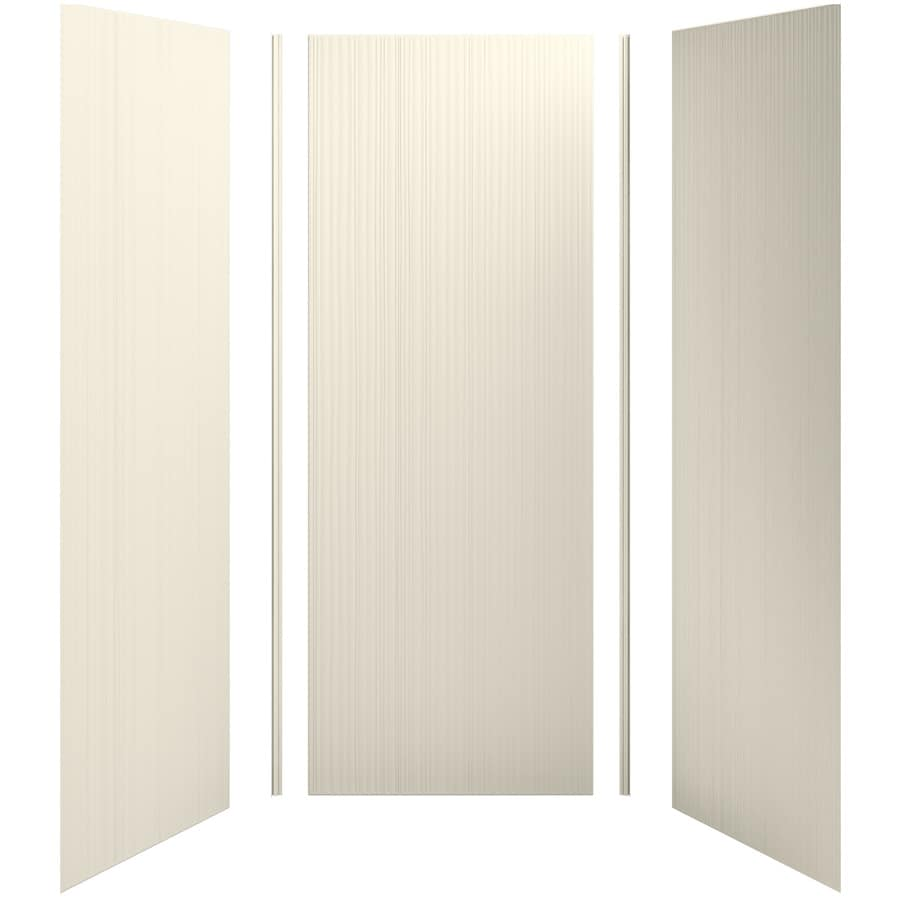 KOHLER Choreograph Almond Shower Wall Surround Side and Back Panels (Common: 36-in x 36-in; Actual: 96-in x 36-in x 36-in)