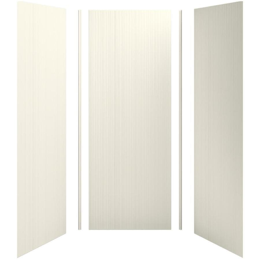 KOHLER Choreograph Biscuit Shower Wall Surround Side and Back Panels (Common: 36-in x 36-in; Actual: 96-in x 36-in x 36-in)