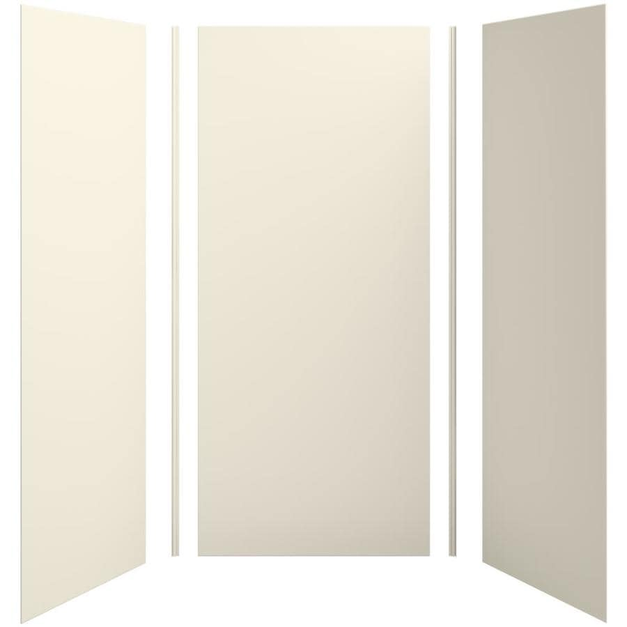 KOHLER Choreograph Almond Shower Wall Surround Side and Back Panels (Common: 42-in x 36-in; Actual: 96-in x 42-in x 36-in)