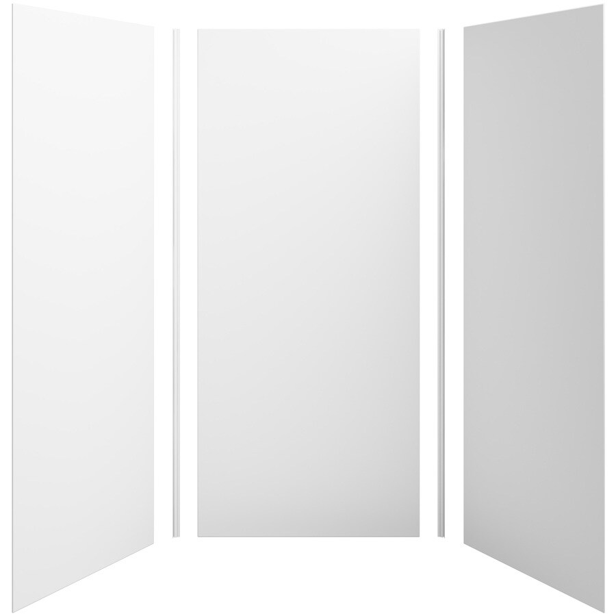 KOHLER Choreograph White Shower Wall Surround Side and Back Panels (Common: 42-in x 42-in; Actual: 96-in x 42-in x 42-in)