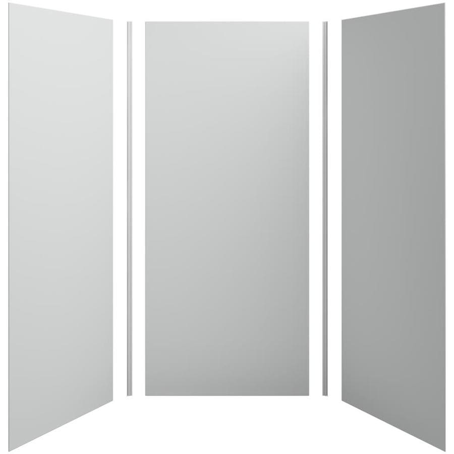 KOHLER Choreograph Ice Grey Shower Wall Surround Side and Back Panels (Common: 42-in x 42-in; Actual: 96-in x 42-in x 42-in)