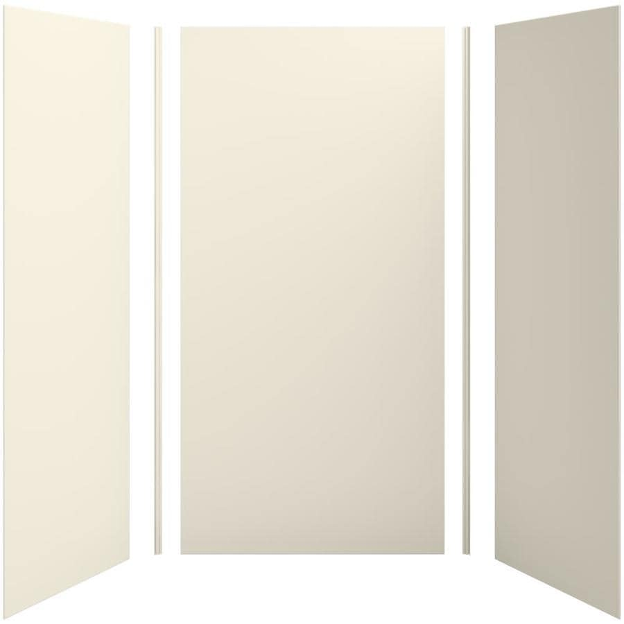 KOHLER Choreograph Almond Shower Wall Surround Side and Back Panels (Common: 48-in x 36-in; Actual: 96-in x 48-in x 36-in)