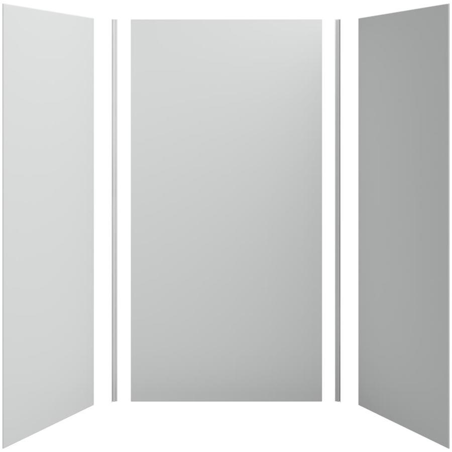 KOHLER Choreograph Ice Grey Shower Wall Surround Side and Back Panels (Common: 48-in x 36-in; Actual: 96-in x 48-in x 36-in)