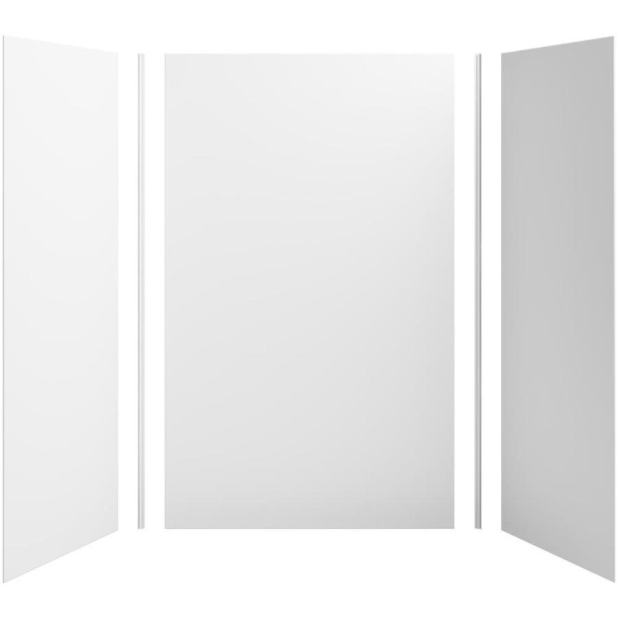 KOHLER Choreograph White Shower Wall Surround Side and Back Panels (Common: 60-in x 36-in; Actual: 96-in x 60-in x 36-in)