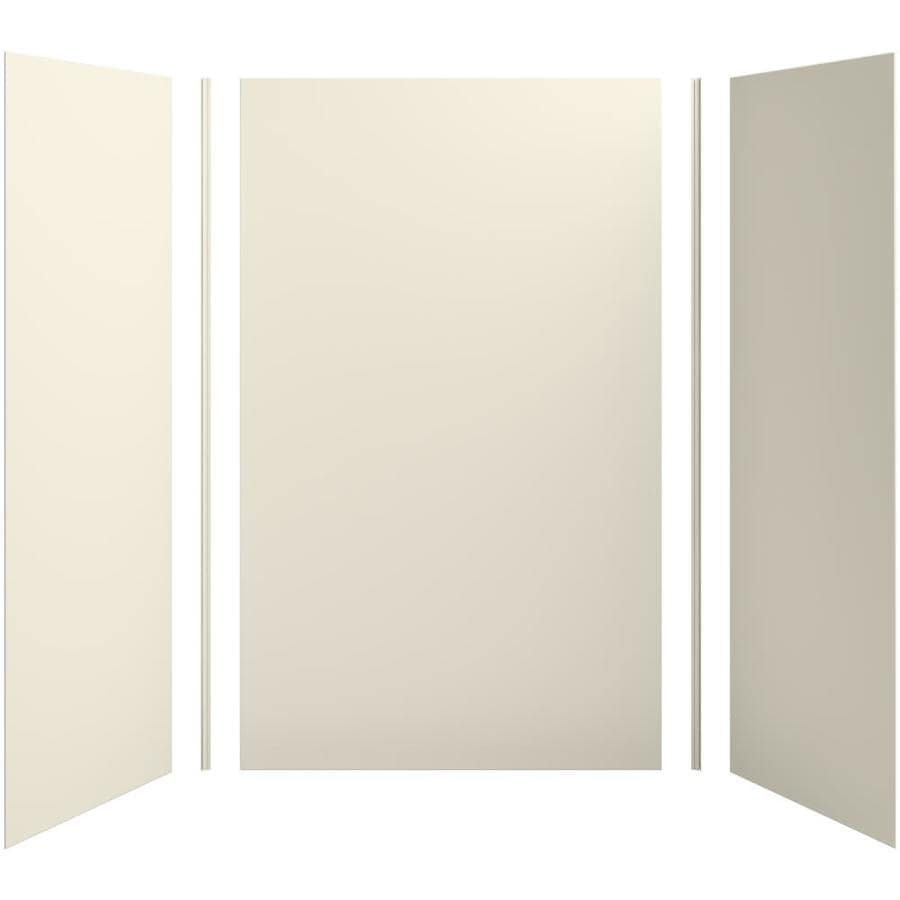 KOHLER Choreograph Almond Shower Wall Surround Side and Back Panels (Common: 60-in x 36-in; Actual: 96-in x 60-in x 36-in)