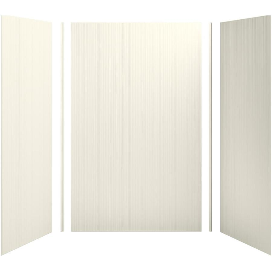 KOHLER Choreograph Biscuit Shower Wall Surround Side and Back Panels (Common: 60-in x 36-in; Actual: 96-in x 60-in x 36-in)
