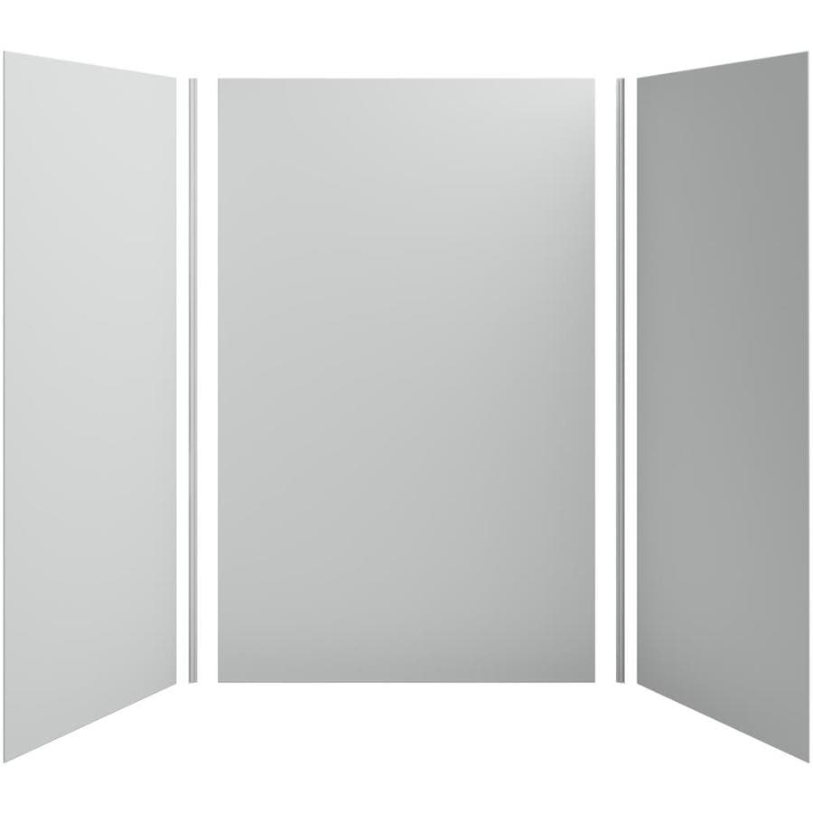KOHLER Choreograph Ice Grey Shower Wall Surround Side and Back Panels (Common: 60-in x 42-in; Actual: 96-in x 60-in x 42-in)
