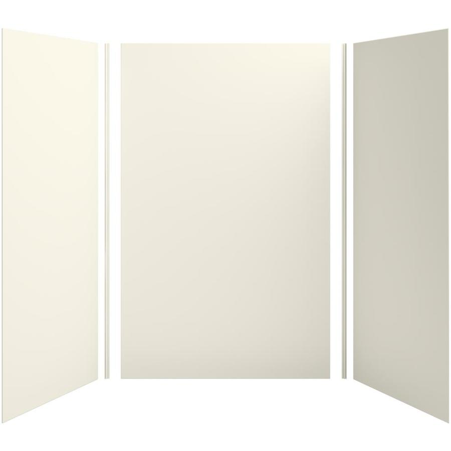 KOHLER Choreograph Biscuit Shower Wall Surround Side and Back Panels (Common: 60-in x 42-in; Actual: 96-in x 60-in x 42-in)