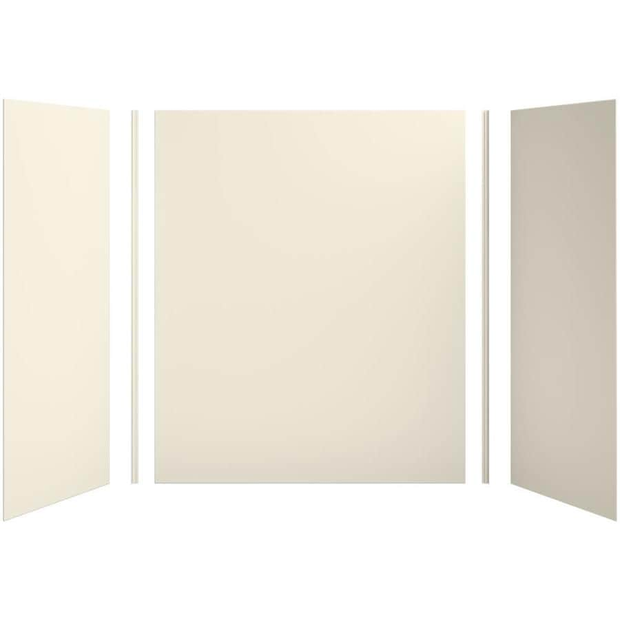 KOHLER Choreograph Almond Shower Wall Surround Side and Back Panels (Common: 60-in x 32-in; Actual: 72-in x 60-in x 32-in)