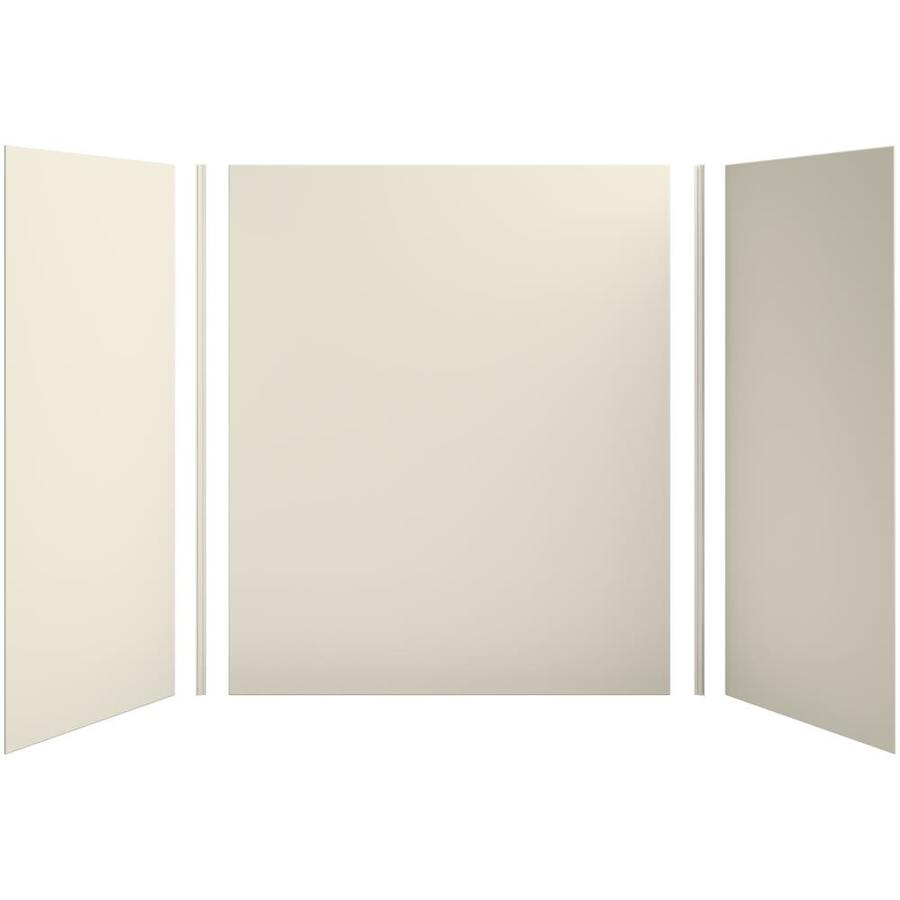 KOHLER Choreograph Almond Shower Wall Surround Side and Back Panels (Common: 60-in x 36-in; Actual: 72-in x 60-in x 36-in)