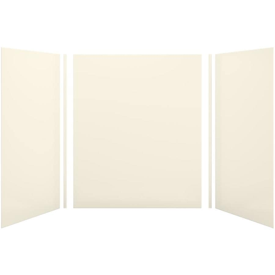 KOHLER Choreograph Almond Shower Wall Surround Side and Back Panels (Common: 60-in x 42-in; Actual: 72-in x 60-in x 42-in)
