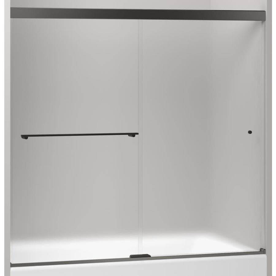 KOHLER Revel 59.625-in to 59.625-in Frameless Sliding Shower Door
