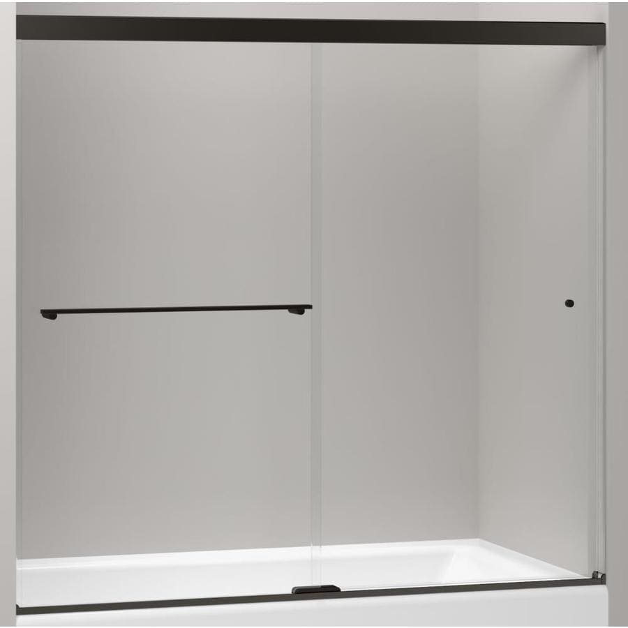 KOHLER Revel 59.625 In W X 62 In H Dark Bronze Bathtub Door
