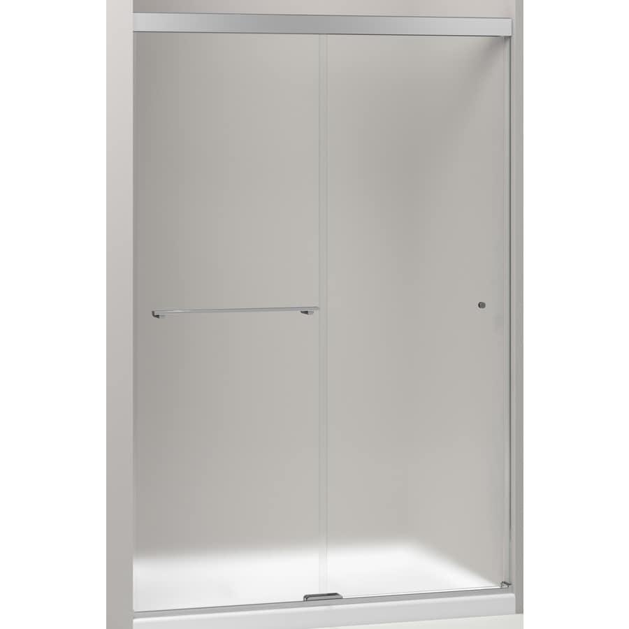 KOHLER Revel 44.625-in to 47.625-in W Frameless Bright Polished Silver Sliding Shower Door