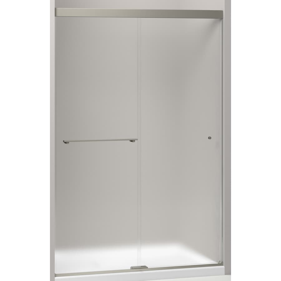 KOHLER Revel 47.625-in to 47.625-in W x 70-in H Frameless Sliding Shower Door