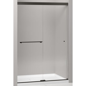 Shop shower doors at lowes kohler revel 44625 in to 47625 in w frameless bright polished silver sliding shower planetlyrics Choice Image