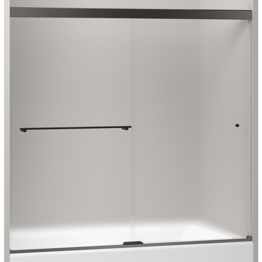 KOHLER Revel 59.625-in to 59.625-in W x 70-in H Frameless Sliding Shower Door