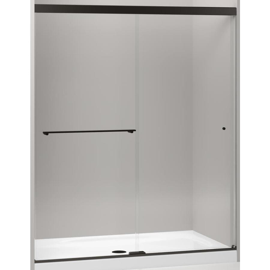 KOHLER Revel 56.625-in to 59.625-in Frameless Sliding Shower Door
