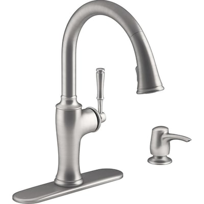 Cardale Vibrant Stainless 1-handle Deck Mount Pull-down Kitchen Faucet
