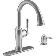 KOHLER Cardale Vibrant Stainless 1 Handle Pull Down Kitchen Faucet