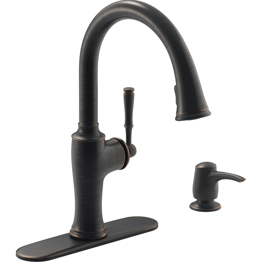 Merveilleux KOHLER Cardale Oil Rubbed Bronze 1 Handle Pull Down Kitchen Faucet