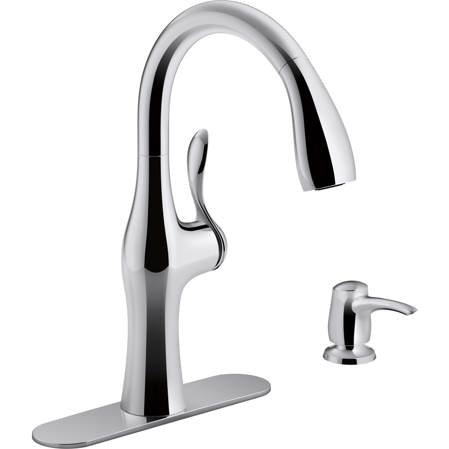 Kohler Alma Polished Chrome 1 Handle Deck Mount Pull Down Sweep