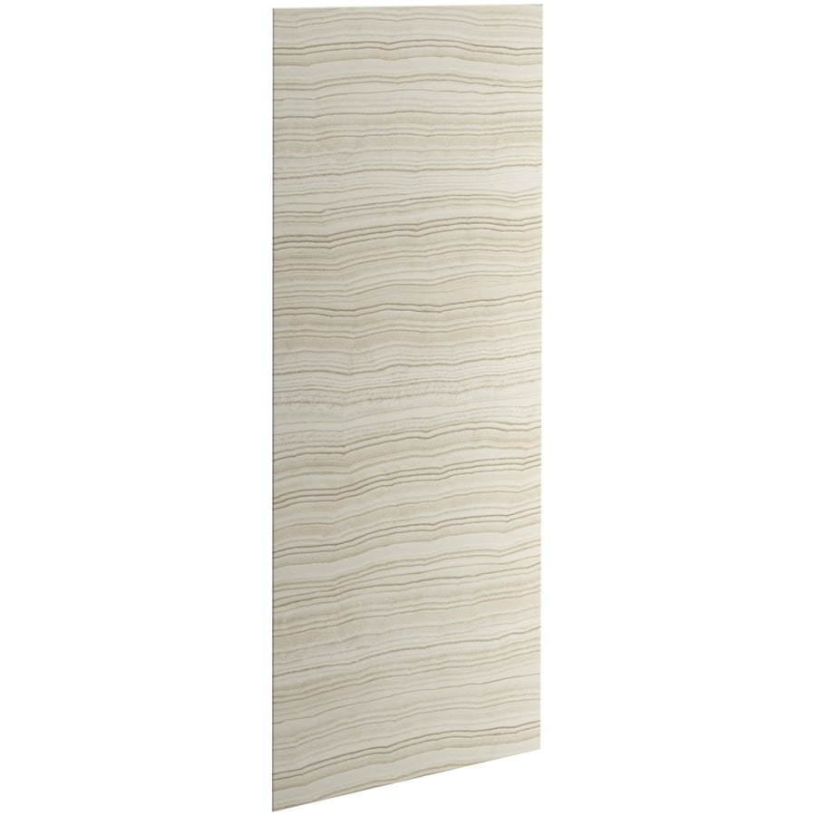 KOHLER Choreograph Veincut Biscuit Shower Wall Surround Side and Back Panels (Common: 32-in x .1875-in; Actual: 96-in x 32-in x 0.1875-in)