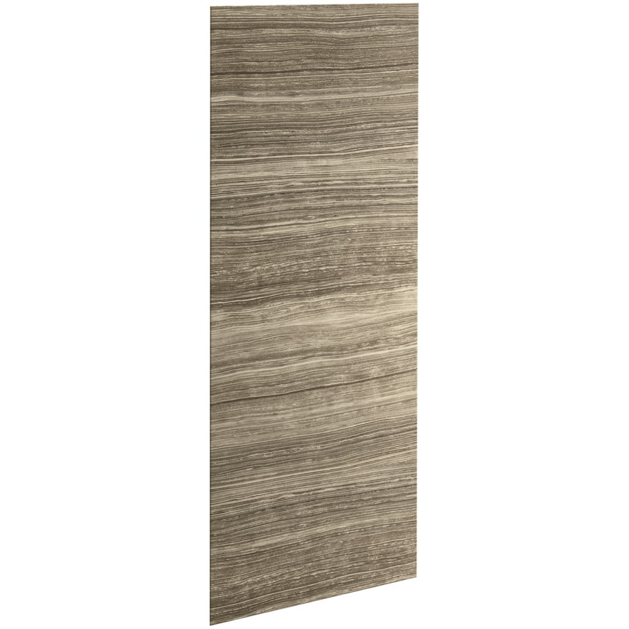 KOHLER Choreograph Veincut Sandbar Shower Wall Surround Side and Back Panels (Common: 32-in x .1875-in; Actual: 96-in x 32-in x 0.1875-in)