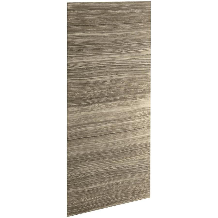 KOHLER Choreograph Veincut Sandbar Shower Wall Surround Side and Back Panels (Common: 42-in x .1875-in; Actual: 96-in x 42-in x 0.1875-in)