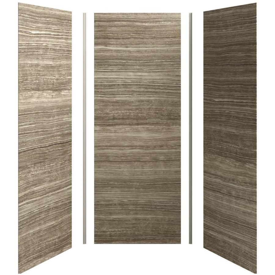 KOHLER Choreograph Veincut Sandbar Shower Wall Surround Side and Back Panels (Common: 36-in x 36-in; Actual: 96-in x 36-in x 36-in)