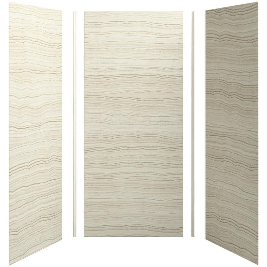 Shop kohler choreograph veincut biscuit shower wall for Bathroom wall paneling