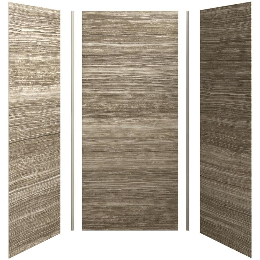 KOHLER Choreograph Veincut Sandbar Shower Wall Surround Side and Back Panels (Common: 42-in x 36-in; Actual: 96-in x 42-in x 36-in)